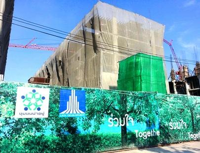 งานโครงสร้าง พื้นชั้น 5 แล้วเสร็จ 50%   อาคาร F6