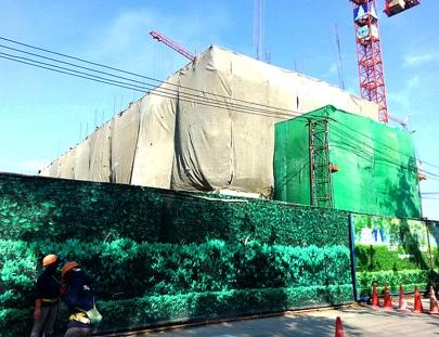 งานโครงสร้าง พื้นชั้น 4 แล้วเสร็จ 100%   อาคาร F8