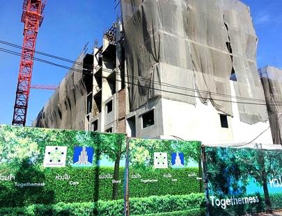 งานโครงสร้าง พื้นชั้น 5 แล้วเสร็จ 100%   อาคาร F5