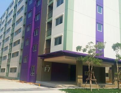งานโครงสร้าง แล้วเสร็จ 100% อาคาร F7